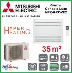 Mitsubishi Console Hyper Heating  Inverter - Gamme DE LUXE - MFZ-KJ35VE2 (3.5 kW)