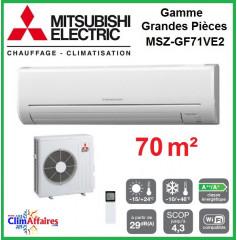 Mitsubishi Mural Inverter - Gamme Grandes Pièces - MSZ-GF71VE2 (7.1 kW)