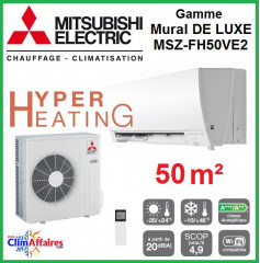 Mitsubishi Mural Hyper Heating Inverter - Gamme De Luxe - MSZ-FH50VE2 (5.0 kW)