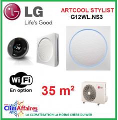 LG Climatisation Inverter - Artcool Stylist - R410A - G12WL.NS3 + G12WL.UL2 (3.5 kW)