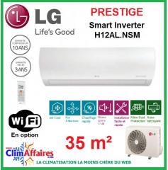 LG Climatisation Inverter - Prestige - R410A - H12AL.NSM + H12AL.UE1 (3.5 kW)