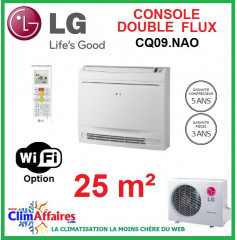 LG Climatisation Inverter - Console double flux - R410A - CQ09.NA0 + UU09WUL0 (2.5 kW)