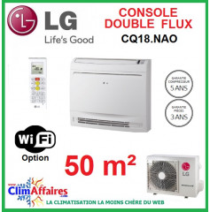 LG Climatisation Inverter - Console double flux - R410A - CQ18NA0 + UU18WUE4 (5.0 kW)