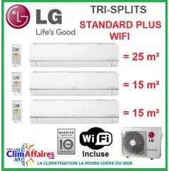 LG Climatisation Tri-Splits - STANDARD PLUS WIFI - MU3M19.UE4 + PM09SP.NSJ + 2 x PM05SP.NSJ (5.3 kW)