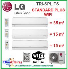 LG Climatisation Tri-Splits - STANDARD PLUS WIFI - MU3M21.UL4 + PM12SP.NSJ + 2 x PM05SP.NSJ (6.2 kW)