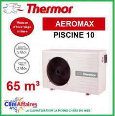 Pompe à chaleur pour piscine THERMOR - AEROMAX 10 (65 m3)