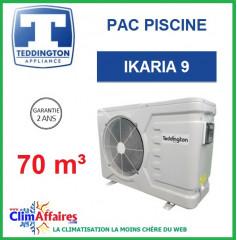 Pompe à chaleur pour piscine TEDDINGTON - IKARIA 9 (70 m3)