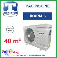 Pompe à chaleur pour piscine TEDDINGTON - IKARIA 6 (40 m3)