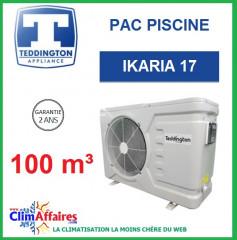 Pompe à chaleur pour piscine TEDDINGTON - IKARIA 17 (100 m3)