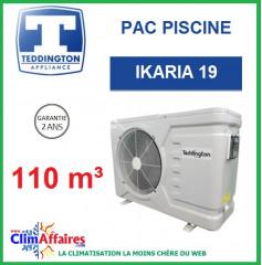 Pompe à chaleur pour piscine TEDDINGTON - IKARIA 19 (110 m3)