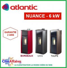 Poêle à Granulés étanche ATLANTIC - NUANCE 5006 - Gris, Taupe, Bordeaux (6.0 kW)