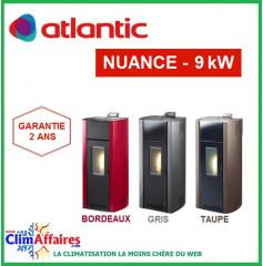 Poêle à Granulés étanche ATLANTIC - NUANCE 5006 - Gris, Taupe, Bordeaux (9.0 kW)