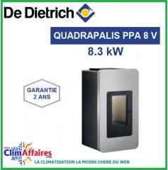 Poêle à Granulés étanche DE DIETRICH - QUADRALIS PPA 8 V - Gris (8 kW)