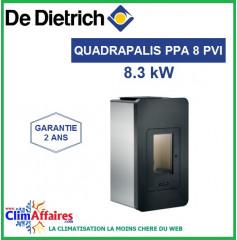 Poêle à Granulés étanche DE DIETRICH - QUADRALIS PPA 8 PVI - Noir (8 kW)