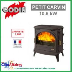 Poêle à bois GODIN - PETIT CARVIN - Fonte (10.5 kW)