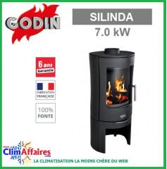 Poêle à bois GODIN - SILINDA - Anthracite (7.0 kW)