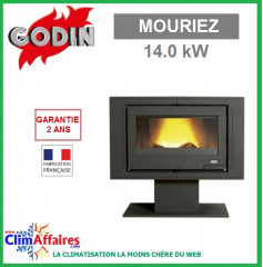 Poêle à bois GODIN - MOURIEZ - Anthracite (14.0 kW)