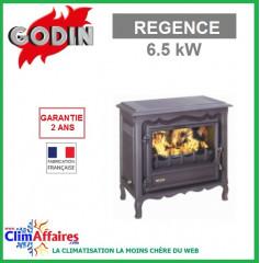 Poêle à bois GODIN - REGENCE - Anthracite (6.5 kW)
