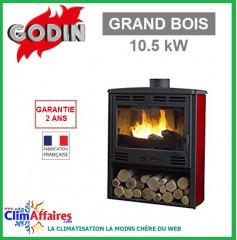 Poêle à bois GODIN - GRAND BOIS - Rubis (10.5 kW)
