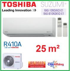 Toshiba Mural Inverter - Suzumi + R410A - RAS-B10N3KV2-E1 + RAS-10N3AV2-E1 (2,5 kW)