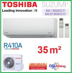 Toshiba Mural Inverter - Suzumi + R410A - RAS-B13N3KV2-E1 + RAS-13N3AV2-E1 (3,5 kW)