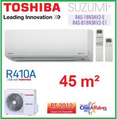 Toshiba Mural Inverter - Suzumi + R410A - RAS-B16N3KV2-E1 + RAS-16N3AV2-E (4.5 kW)