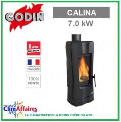 Poêle à bois GODIN - CALINA - Anthracite (7 kW)