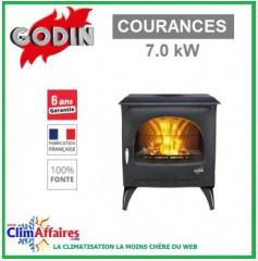Poêle à bois GODIN - COURANCES - Anthracite (7 kW)