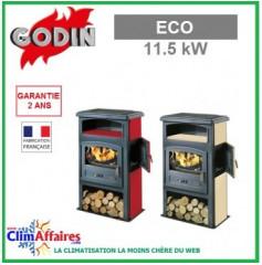 Poêle à bois GODIN - ECO - Rubis, Sable (11.5 kW)