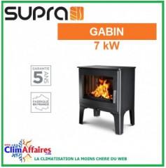 Poêle à bois SUPRA - GABIN - Noir (7.0 kW)