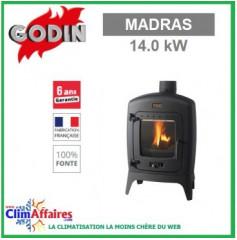 Poêle à bois GODIN - MADRAS - Anthracite (9.0 kW)