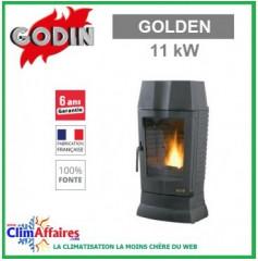 Poêle à bois GODIN - GOLDEN - Anthracite (11.0 kW)