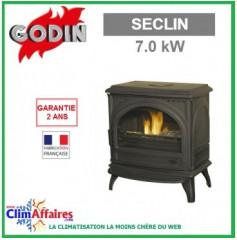 Poêle à bois GODIN - SECLIN - Anthracite (7.0 kW)
