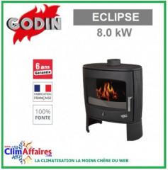 Poêle à bois GODIN - ECLIPSE - Noir (8.0 kW)