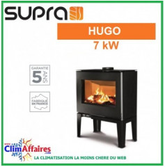 Poêle à bois SUPRA - HUGO - Noir (7.0 kW)