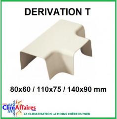 Dérivation T pour raccords goulottes (80x60 / 110x75 / 140x90 mm)