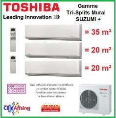 Toshiba Tri-Splits Suzumi + - RAS-3M26S3AV-E + 2 x RAS-M07N3KV2-E1 + RAS-B13N3KV2-E1 (7.5 kW)
