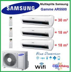 Samsung Tri-Splits - AR5500 - AJ068MCJ03EH/EU + 2 x AR07KSPDBWKNEU + AR12KSPDBWKNEU (6.8 kW)