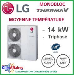 LG Therma V - Pompe à Chaleur Air/Eau - Monobloc - R410A - Triphasé - HM143M.U32 (14.0 kW)