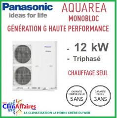 Panasonic - Aquarea - Pompe à Chaleur Air/Eau - Génération G Haute Performance - Monobloc - Chaud Seul - WH-MHF12G9E8 (12.0 kW)