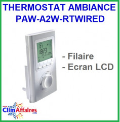 Panasonic -Thermostat d'ambiance LCD Filaire - PAW-A2W-RTWIRED