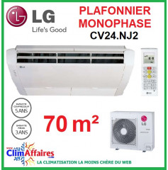 LG Climatisation - Plafonnier Monophasé - CV24.NJ2 + UU24W.U44 (6.8 kW)