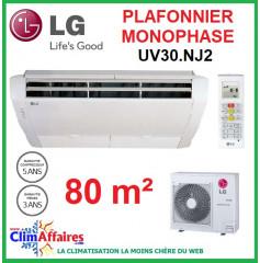 LG Climatisation - Plafonnier Monophasé - UV30.NJ2 + UU30W.U44 (7.6 kW)