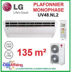 LG Climatisation - Plafonnier Monophasé - UV48.NL2 + UU48W.U32 (13.3 kW)