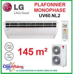 LG Climatisation - Plafonnier Monophasé - UV60.NL2 + UU60W.U32 (14.4 kW)