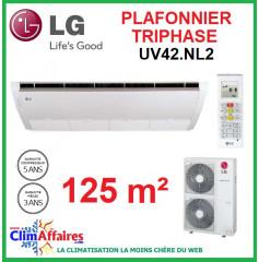 LG Climatisation - Plafonnier Triphasé - UV42.NL2 + UU43W.U32 (12.5 kW)