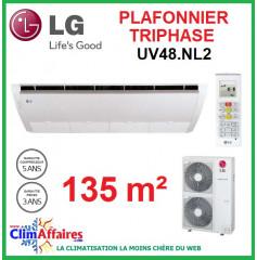 LG Climatisation - Plafonnier Triphasé - UV48.NL2 + UU49W.U32 (13.3 kW)