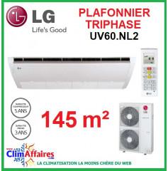 LG Climatisation - Plafonnier Triphasé - UV60.NL2 + UU61W.U32 (14.4 kW)