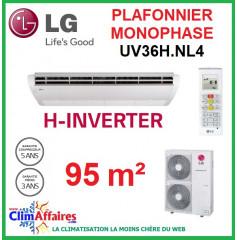LG Climatisation - Plafonnier H-Inverter Monophasé - UV36H.NL4 + UU36WH.U34 (9.5 kW)