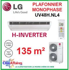 LG Climatisation - Plafonnier H-Inverter Monophasé - UV48H.NL4 + UU48WH.U34 (13.4 kW)